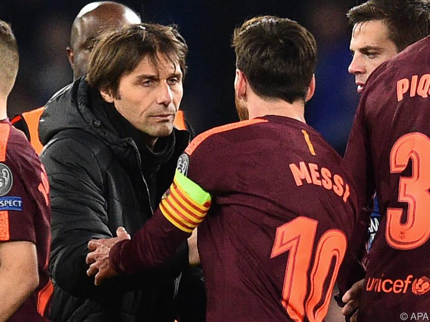 Conte wird es wohl wieder mit Defensive gegen Messi und Co. probieren