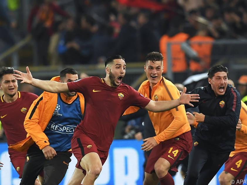 Euphorie bei der Roma nach dem Triumph über Barcelona