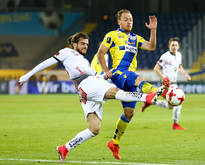 WAC-Spieler Zündel gegen St. Pöltens Dominik Hofbauer