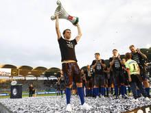 In Graz wurden der Pokalsieg und Torhüter Christan Gratzei gefeiert