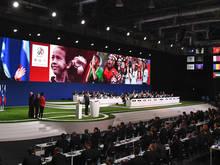 Die Vergabe beim FIFA-Kongress in Moskau