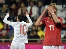Spaniens Jenni Hermoso jubelte, die ÖFB-Frauen trauerten