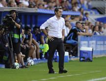 Auf Ernesto Valverde wartet mit dem FC Barcelona das Stadtderby