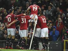 Ashley Young scorte für Manchester United