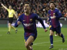 Philippe Coutinho erzielte das 1:0 für Barcelona