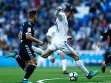 Reals Gareth Bale (r.) machte wieder auf sich aufmerksam