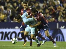 Hart umkämpfte Partie gegen Levante