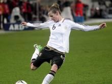 Simone Laudehr, Antreiberin im DFB-Mittelfeld, erzielte den Ausgleich. Foto: Jens Wolf