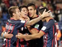 Die Spieler von San Lorenzo jubeln über den Einzug ins Finale