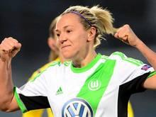 Die Ungarin Zsanett Jakabfi spielt in der Bundesliga für den VfL Wolfsburg