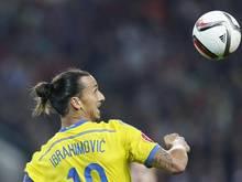 Zlatan Ibrahimović hofft mit Schweden auf eine EM-Teilnahme