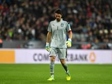Gianluigi Buffon mochte seine Enttäuschung über die vier Gegentore nicht verbergen