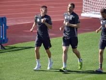 Toni Kroos (L-R) und Manuel Neuer