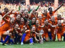 Die niederländischen Frauen haben erstmals den EM-Titel gewonnen