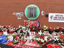 Das Hillsborough Denkmal gedenkt den 96 Toten vom 15. April 1989