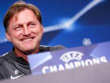 Leipzigs Cheftrainer Ralph Hasenhüttl freut sich auf die Königsklasse
