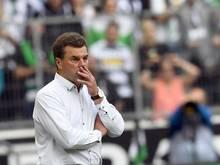 Gladbachs Trainer Dieter Hecking fehlen gleich acht Spieler
