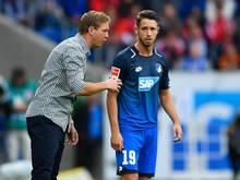 Hoffenheim-Trainer Julian Nagelsmann (l.) kann wieder auf Mark Uth setzen
