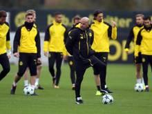 Hofft noch auf ein Weiterkommen in der Königsklasse: BVB-Trainer Peter Bosz