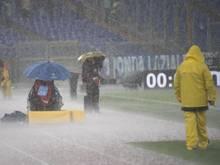 Zu viel Regen: Das Spiel Lazio Rom gegen Udinese Calcio musste abgesagt werden