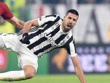 Juve-Profi Sami Khedira kassierte einen Schlag gegen Kopf