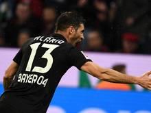 Brachte Leverkusen gegen Gladbach mit dem Führungstor in die Spur: Bayer-Angreifer Alario
