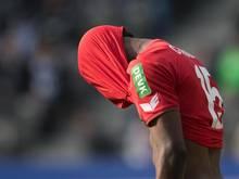 Der Kölner Jhon Córdoba kann die Niederlage in Berlin nicht fassen