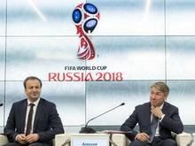 Dworkowitsch (l.) und Sorokin stellten eine Studie zu den erwarteten wirtschaftlichen Auswirkungen der WM vor