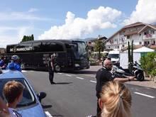 Mehr als den DFB-Bus gab es nicht zu sehen