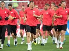 Ist mit Polen gegen Senegal gefordert: Bayern-Profi Robert Lewandowski (M.)