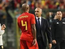 Belgiens Coach Roberto Martínez hofft auf den Einsatz von Vincent Kompany