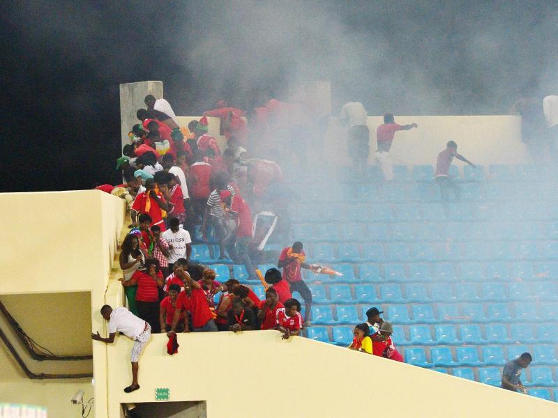 Bei den Ausschreitungen während des Afrika-Cup-Halbfinals haben sich 36 Personen verletzt
