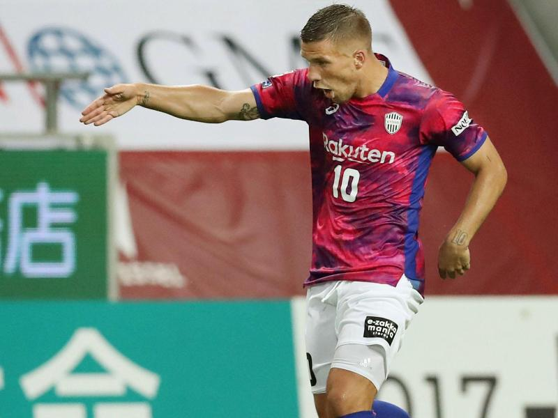Lukas Podolski kassierte seine erste Pleite in Japan