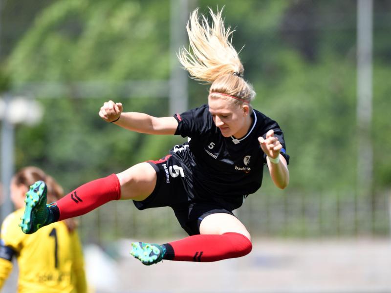 Die Freiburger Spielerin Kim Fellhauer erzielte das 1:0 gegen Hoffenheim