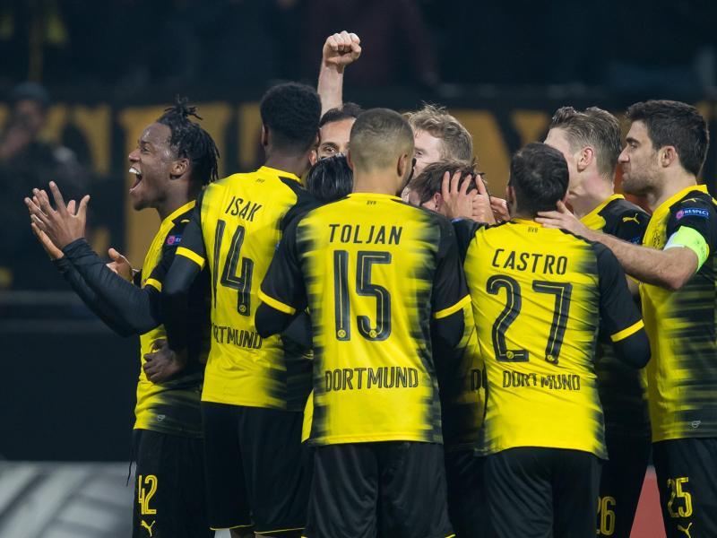 Die Dortmunder wollen auch am Sonntag in Mönchengladbach jubeln