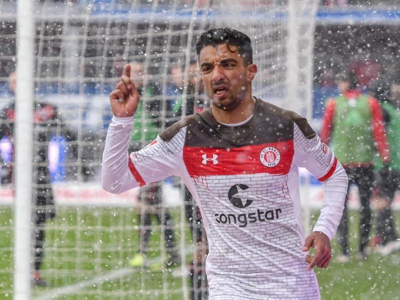 Sami Allagui behielt im Schneegestöber die Übersicht