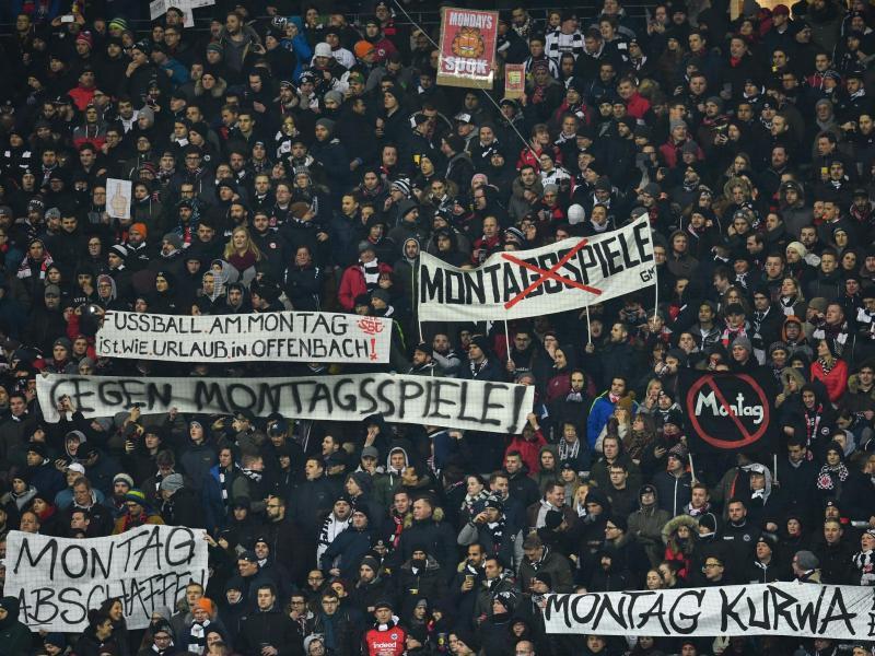 Die Fans von Eintracht Frankfurt hatten am Montag protestiert