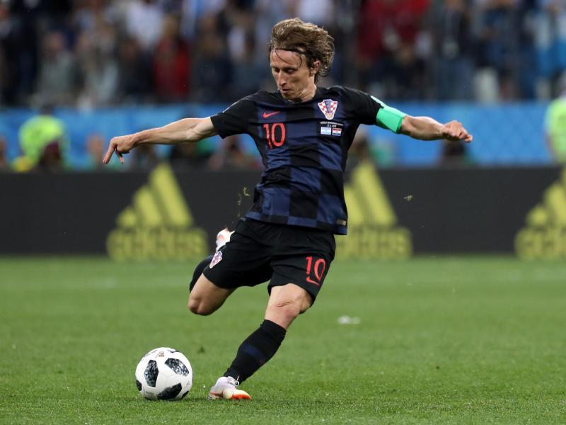 Real Madrids Mittelfeldstar Luka Modric spielt mit Kroatien bislang eine bärenstarke Gruppenphase