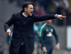 Frankfurts Trainer Niko Kovac fordert drei Punkte von seinem Team gegen den FCAugsburg. Foto: Arne Dedert