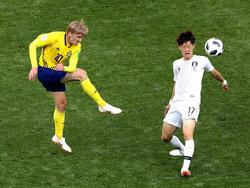 Gegen Südkorea erwischte Emil Forsberg (l.) nicht seinen besten Tag