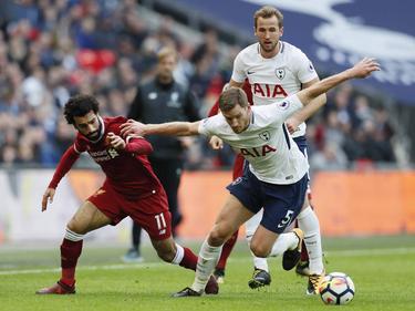 Mohamed Salah (l.) und Harry Kane (h.) treffen wieder aufeinander. © imago/Sportimage