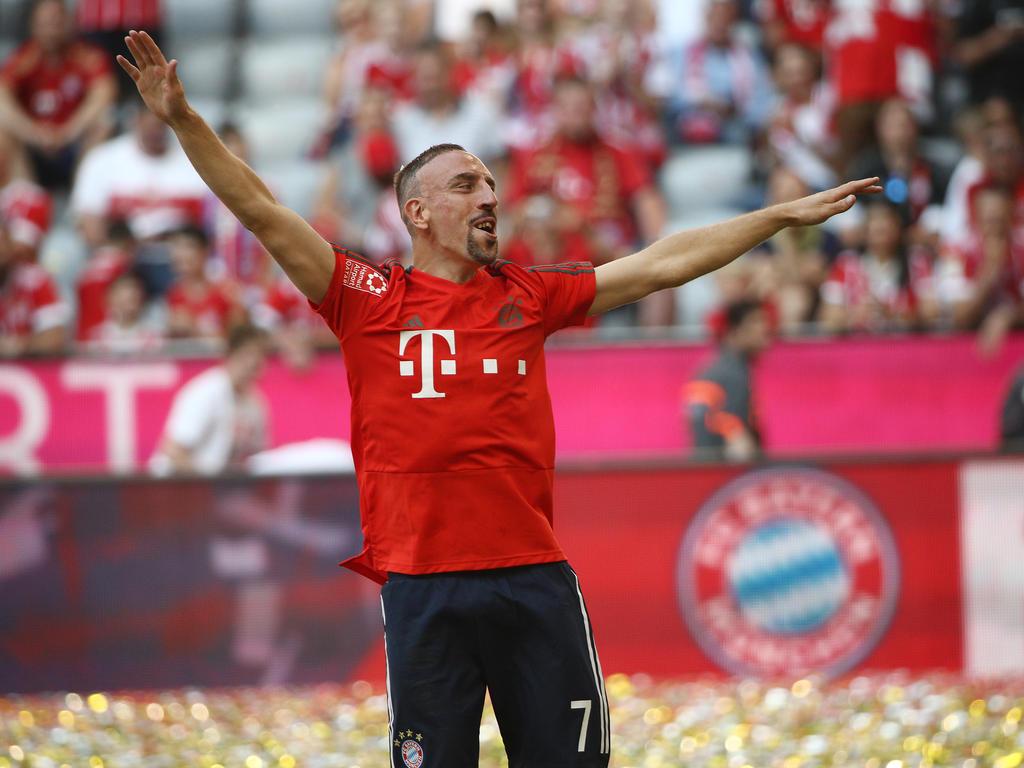 Franck Ribéry hat seine achte Meisterschaft gebührend gefeiert