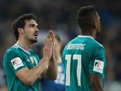 Mats Hummels (l.) und Jérôme Boateng sind zum DFB-Team gestoßen