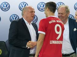 Uli Hoeneß will Robert Lewandowski nicht ziehen lassen