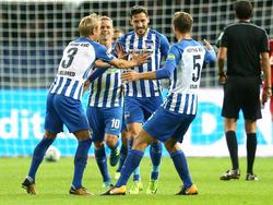 Einen immens wichtigen Heimsieg bejubelte Hertha BSC gegen Leverkusen