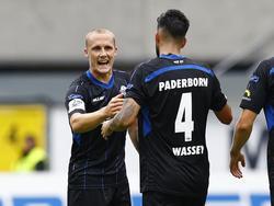 Sven Michel und Massih Wassey (r.) gehören zu den Säulen des Paderborner Erfolgs