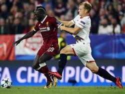 Kam in der Champions League gegen Liverpool zum Einsatz: Johannes Geis (r.)
