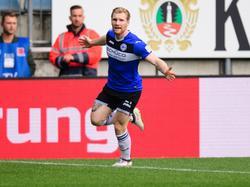 Bielefelds Voglsammer traf zum 1:0 für sein Team