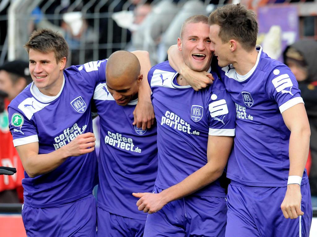 Das letzte Mal lief der VfL in der Saison 2012/13 mit Puma-Trikots auf