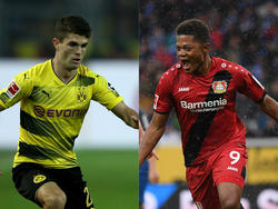 Christian Pulisic (l.) und Leon Bailey sollen das Intereese des FC Bayern geweckt haben